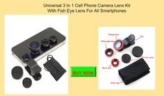 Drumstone Universal 3 In 1 Cell Phone Camera Lens Kit Electronics Tech Gifts For Mencool