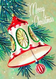Christmas bells are ringing. Vintage Christmas Images, Vintage Holiday, Christmas Pictures, Antique Christmas, Vintage Images, Merry Christmas, Christmas Bells, Christmas Crafts, Vintage Greeting Cards