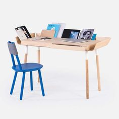 My Writing Home Office Desk 2 drawers / Natural ash wings -  - Office Desk - EMKO - Space & Shape - 1