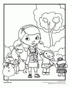 doc mcstuffins coloring page - Sadie will love