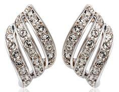 Rigant 18K RGP Alloy Stylish Earrings (White Gold)