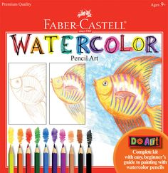 Do Art Watercolor Pencil Art - Learn to paint with Watercolor EcoPencils using the best children's art materials by Faber-Castell. This kit includes 10 Watercolor Pencils with a clear zipper pouch, 24-page Watercolor Paper Pad, 20-page Instruction Booklet, Pencil Sharpener and Paintbrush.