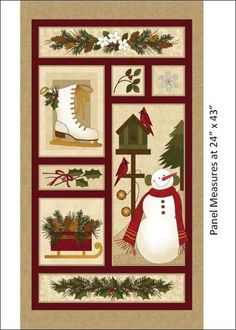 Winter Wonderland Snowmen & Holly Cotton Fabric by Benartex! 8 Options [Choose Your Cut] Christmas 24, Christmas Sewing, Christmas Crafts, Country Christmas, Christmas Printables, Christmas Quilt Patterns, Christmas Quilting, Christmas Patchwork, Christmas Fabric