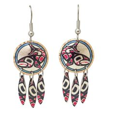 Salmon Artist Collection Copper Multiple Earrings