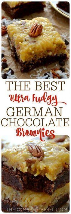 Ultra Fudgy German Chocolate Brownies
