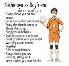 Noya as boyfriend, haikyuu Haikyuu Nishinoya, Haikyuu Funny, Haikyuu Fanart, Kageyama, Gon Anime, Manga Anime, Hinata, Anime Boys, Types Of Boyfriends