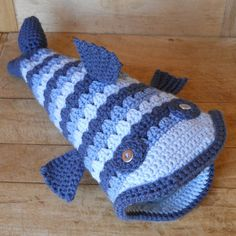 Crochet Blue Gill Fish Hat by Salowicious on Etsy