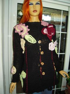Handmade crochet embroidered hippie like by GoldenYarn on Etsy, $330.00