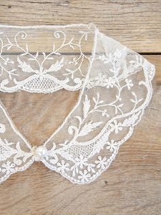 Free People Vintage Lace Collar in White - Lyst