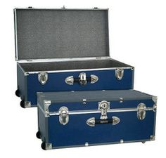 Wheeled Storage Trunk Dorm Room College Travel Durable Secure Storage Box  Http