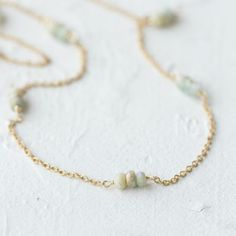 Scattered Aquamarine Necklace in VALENTINE'S+GIFTS Valentine's Day Jewelry Under $100 at Terrain