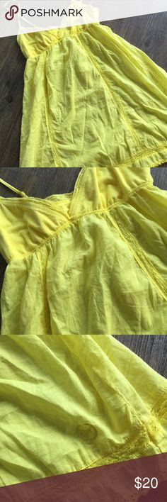 VICTORIA SECRET BRIGHT YELLOW NIGHTY Really pretty! Soft cotton! Never worn! Great buy! Victoria's Secret Intimates & Sleepwear Chemises & Slips