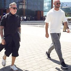 Spotted walking out of #louisvuitton show with @nickwooster . I am wearing total look Ports1961 menswear spring summer 2016 #cool #easy #fresh #sporty #menstyle #mensfashion @ports1961menswear