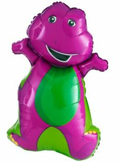 Barney The Dinosaur Balloon Barney Birthday Party, Barney Party, Elmo Birthday, Boy First Birthday, 3rd Birthday Parties, Birthday Ideas, Dinosaur Balloons, Dinosaur Party, Barney The Dinosaurs