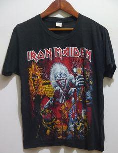 a34efd87 VERY RARE vintage 80s IRON MAIDEN Heavy Metal 50/50 Soft Thin t-shirt  #ScreenStars #ironmaiden