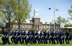 NEW LONDON, Conn. - Third class cadets at the U.S. Coast Guard Academy participate in a week long training course with Cape May Recruit Company Commanders during 100th Week, May 13, 2013. U.S. Coast Guard photo by Petty Officer 3rd Class Cory J. Mendenhall. #coastie #coastguard
