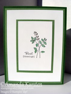 Herb Expressions - Basil by Hauntedradio - Cards and Paper Crafts at Splitcoaststampers