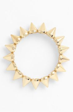Spike gold bracelet - I couldn't want more