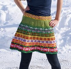 love this knitted skirt...