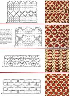 Watch This Video Beauteous Finished Make Crochet Look Like Knitting (the Waistcoat Stitch) Ideas. Amazing Make Crochet Look Like Knitting (the Waistcoat Stitch) Ideas. Crochet Stitches Chart, Crochet Symbols, Crochet Motifs, Crochet Borders, Crochet Diagram, Filet Crochet, Irish Crochet, Knitting Stitches, Love Crochet