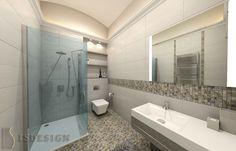 Ванная комната - Современность и классика переплелись на Королевских Виноградах в Праге. Дизайн проекта интерьера, квартира 3+kk, Прага, улица Šumavská. Архитектор - дизайнер Инна Войтенко.