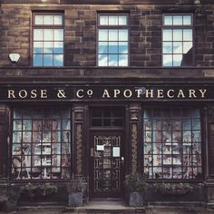 Shop Exteriors & Store Fronts •~• with apartment above (Rose & Co. Apothecary)