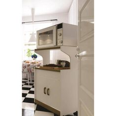 Kitchen Storage Pantry Cabinet Microwave Cabinets With Shelves Organizer White Kitchen Microwave Cabinet, Microwave Storage, Microwave Cart, Kitchen Cabinet Storage, White Kitchen Cabinets, Small Kitchen Appliances, Wood Cabinets, Microwave Stand, Farmhouse Cabinets