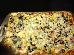 Wheat free lactose free pizza Mmm delicious!!