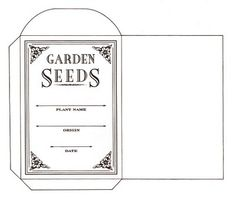 A nice clean DIY seed packet. Would look nice on coloured or even recycled paper