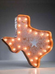 Vintage Marquee Texas Lights.