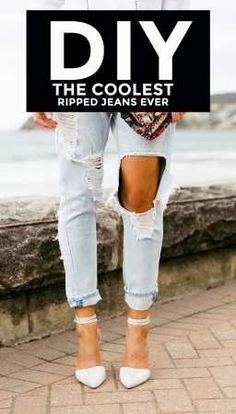 How to Make Your Own Ripped Jeans!