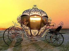 Cinderella Carriage ride - It's every girl's fantasy! Cinderella Carriage, Cinderella Wedding, Princess Carriage, Cinderella Coach, Pumpkin Carriage, Horse Carriage, Horse Drawn, Conte, Disney Love