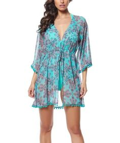 Look at this #zulilyfind! Pool Driving Miss Paisley Cover-Up #zulilyfinds