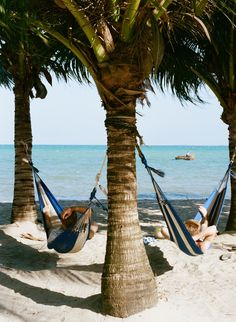 Afternoon hammock naps at Turtle Inn in Belize