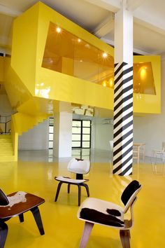 Fai-Fah / Sparch - yellow / interior design / architecture / mod - Home Decorating Ideas )