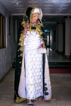 Mimi and Nas Hausa Muslim Wedding in Nigeria ~African fashion, Ankara, kitenge… African Wedding Attire, African Attire, African Wear, African Women, African Dress, African Weddings, African Traditional Wedding, Traditional Weddings, How To Dress For A Wedding