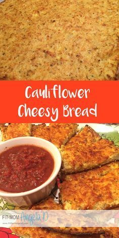Cauliflower Cheesy Bread | Husband and kid approved | 21 Day Fix, 21 Day Fix Extreme Approved | No yellow containers! | Vegetarian | Gluten Free | Clean eats | FitMomAngelaD.com