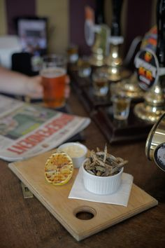 Crispy Whitebait with a pint