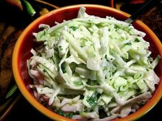 A different spin on cole slaw .... the apples lend a surprise pop of flavor, the jalapeno gives a little heat, and the lime gives a fresh citrus taste sensation.