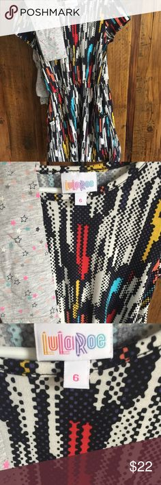 Lularoe Mae dress free leggings EUC Lularoe Mae worn once. EUC Leggings are H&M LuLaRoe Dresses