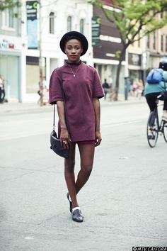 Memedit / Queen West. vintage top restitched by her sister, vintage bag