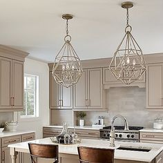 2019 Lighting Trends: The Latest Looks & Styles in Light Fixtures . Home Trends latest home lighting trends Kitchen Ikea, New Kitchen Cabinets, Kitchen Interior, Kitchen Corner, Kitchen Layout, Kitchen Island, Kitchen Decor, French Country Kitchens, Modern Farmhouse Kitchens