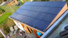 20 zonnepanelen op houten zonneschans8