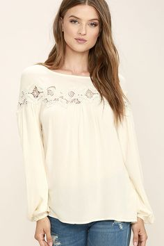 446a9bdfcfb The Black Swan Oriana Cream Lace Top will look great on its own or layered  under