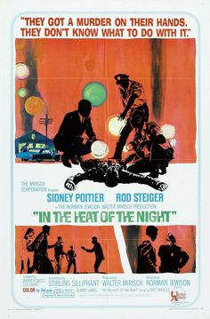 "Unidentified Artist, ""In the Heat of the Night,"" poster art, 1967 986×1 500 пикс"