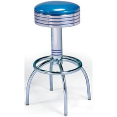 "50's Diner Stool with Arch Leg. Availability: Build to Order. Minimum order of 6. This 50's Arch Leg Diner Stool with swivel seat is a classic soda fountain look for your diner. Available seat heights: 24"" or 30"" Seat diameter: 14"" Grade 1 Vinyl Available in Chrome finish only Zodiac Vinyl available at additional cost. Lifetime structural frame warranty."