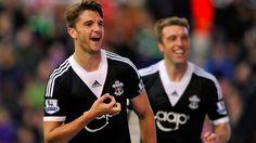 Premier League, Stoke City 1-1 Southampton. Jay Rodriguez celebrates scoring the equaliser.