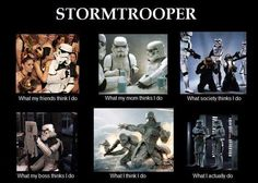 Star Wars stormtrooper 'What my . think I do' meme. Star Wars Rebels, Star Wars Meme, Star Trek, Funny Star Wars Pictures, Images Star Wars, Funny Pictures, Funny Pix, That's Hilarious, Geeks