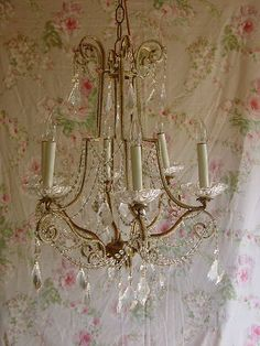 ~BEST Old French BEADED Shabby Prisms Chic Italian Crown PRINCESS Chandelier~NR~   eBay