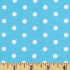 44f8c7f38ff Kaufman Laguna Stretch Jersey Knit Polka Dot Aqua from @fabricdotcom From  Robert Kaufman Fabrics,